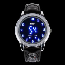 alloy case high resolution led scale display factory direct sel watch,free sample