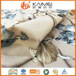 super soft micro velboa fabric paper print floral design hot sale in Turkey Iran Middle-east