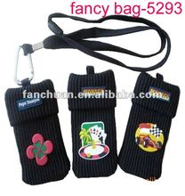 2014 New designer mens womens mobile phone bag portable cellphone shoulder bag