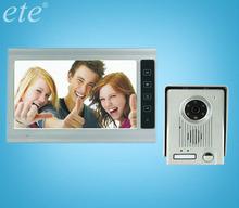 9 inch 4 wired waterproof ccd camera handfree TFT screen door release video door bell