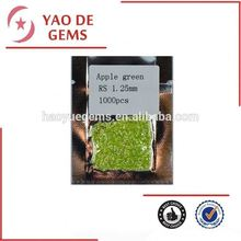 1.25 mm Round Cut Apple Green Cubic Zirconia Wholesale Gemstone Jewelry/Synthetic Cubic Zirconia Wholesale