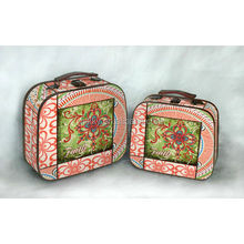 colorful wooden storage box and S/2 fabric storage box handicraft