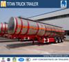 42 cbm fuel Aluminum Tanker Semi Trailer