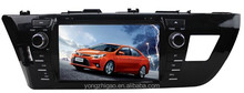 8 inch cheap double din touch screen car stereo GPS for Toyota Levin2014