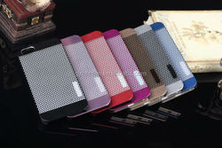 2014 Luxury Fashoin Wave Point Steel Brushed Aluminum PC Case For iPhone 5 5S 5G