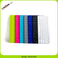 Promotional ultra thin aluminium wireless bluetooth keyboard case for ipad2/3/4 BK301BA