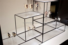 Customized Shop Display Furniture Glass Display Case For Watch