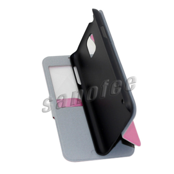 New leather flip case for samsung s5/s4