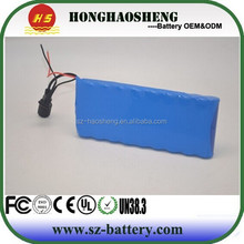 Long cycle life 36V 20Ah lithium rechargeable battery 9s10 36v lithium ion battery pack for E-scooter/E-vehicle