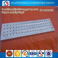 Tianjin SS Group Cheap Galvanized Scaffolding Steel Plank/Walk Board/ Catwalk/galvanized metal scaffolding steel plank in China