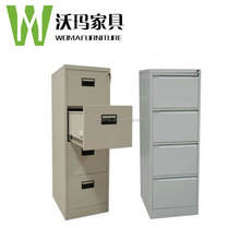Light grey knock down structure easy assembles office storage cabinet/4 drawer cheap steel filing cabinet
