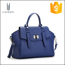 European Style Blue Purses And Handbags,Fashion Latest Design Genuine Ladies Leather Handbag