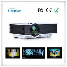 2015 Newest 800 lumens and 800x480 Mini Pico portable Projector UC40 with USB HDMI For Home Theater beamer multimedia projector