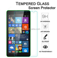 High quality with factory price anti-glare 9H 0.3mm 2.5D tempered glass film screen protector for Nokia Lumia 535
