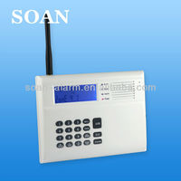 HOT on sale LCD display CDMA pstn /GSM auto switch alarm system with voice prompt