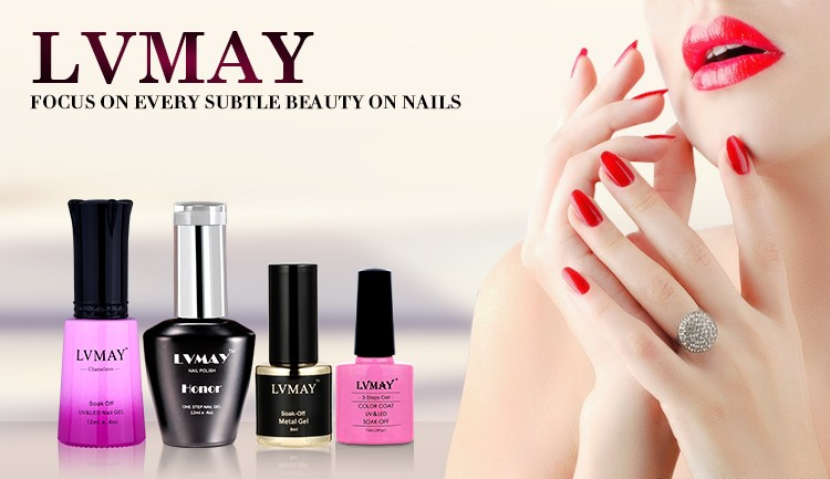 China Lvmay Nail Gel Polish Beautiful Pure Colors Gel Varnishes