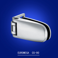Stainless steel automatically spring closing glass door hinge