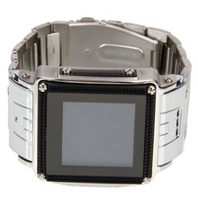 HOT! Stainless Steel Waterproof Watch Mobile Phone W818 Black With Silver (82005284)