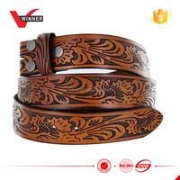 Personalized custom engraved leather belt