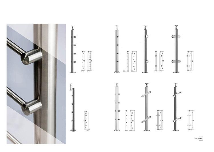 wholesale glass balustrade glass stair handrail. Black Bedroom Furniture Sets. Home Design Ideas