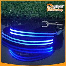 China market new product 2015 fashional nylon dog leash pet leash with flashing led light