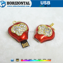 New arrival mini design jewelry decoration red fruits shape USB memory