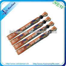 Cheap Festival Handicrafts Made of Fabric Bracelets With Customized Woven Logo