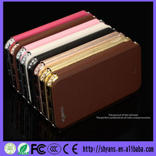 Newest Luxury Design Bling Flip Cover Waterproof Leather Phone case For Iphone 5
