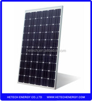 Monocrystalline 240w pv solar panel price per watt on alibaba from china supplier