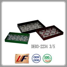Wholesale Home Environmental Good Design Various Colors Handmade Wooden Tray