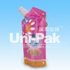 custom design stand up portable reusable juice spout pouch BPA free