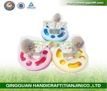 qqpet wholesale free sample pet toys cat toy catch the mouse with rabbit fur