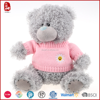18cm grey color knitted teddy bear sweaters