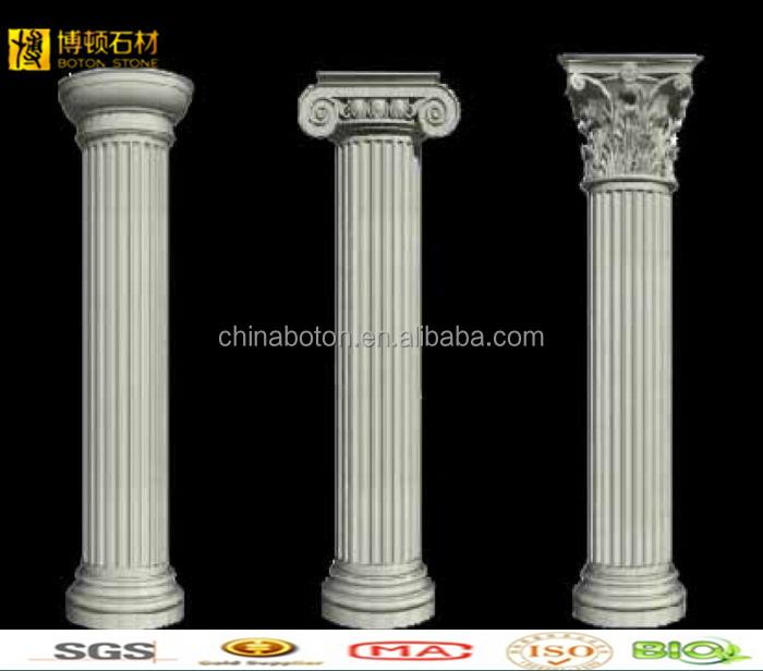 Building Decorative White Marble Roman Columns For Sale