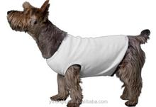 Popular blank pet tank top, wholesale white plain pet dog tank top T-shirt