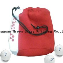 knitted golf ball pouch