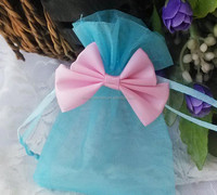 Beautiful Organza Twisted Handle Mini Gift Bags organza 048