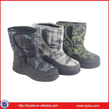 Popular selling children warm boots boy snow winter camo boots