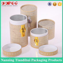 Cardboard cylinder packaging box for candle