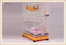 Wire plastic cat cage, luxury big cat cage,large pet cat cage with wheels