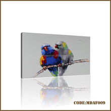 Hot sales modern parrot painting for home decoration