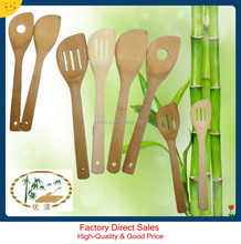 bamboo slotted steak cooking tools turners