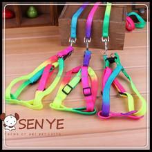 Fashion dog collar colorful retractable dog leash wholesale dog leash nylon dog leash