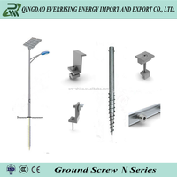 Ground Spike Anchor And Ground Screw Pole Anchor Pile For Street Lighting