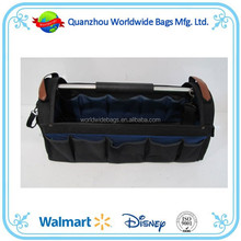 2015 BSCI audit steel handle open tote garden tool bag ,tooling bags ,tool bag