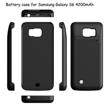 FOR Samsung Galaxy S6 Mobile accessories External battery case 4200MAH POWER BANK CASE