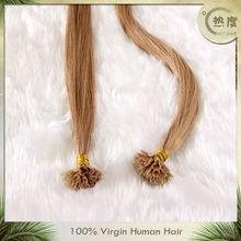 keratin pre-bonded fusion light color I/U/V/flat tip hair /v tipped hair extension/u tipped hair extension