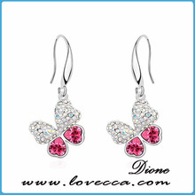 Factory Price Wholesale Latest Beautiful Women's Luxury CZ Drop Earrings Top Quality Setting Earrings Dangler
