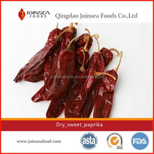 Xinjiang sweet whole paprika with ISO/ HACCP/ FDA
