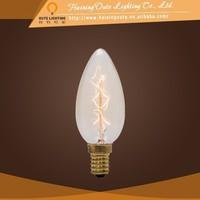 Candle shape lamp C35 archaize glass pendant light